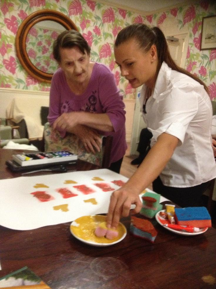 Aerts and craft activities at the Lodges elderly residential care home